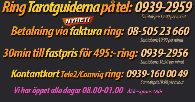Tarot! Ring till Tarotguiderna