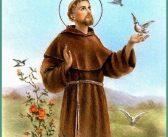 Helgonet S:t Francis av Assisi grundare av Franciskanorden