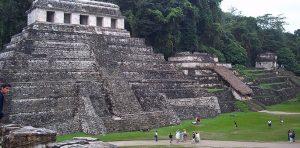 Palenque, Mexiko - ett tempelområde som tillhörde mayafolket