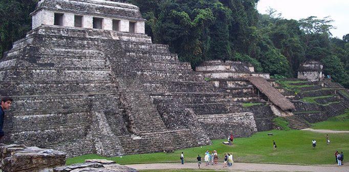 Palenque, Mexiko – ett tempelområde som tillhörde mayafolket