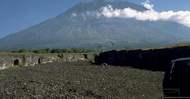De heliga bergen på Bali