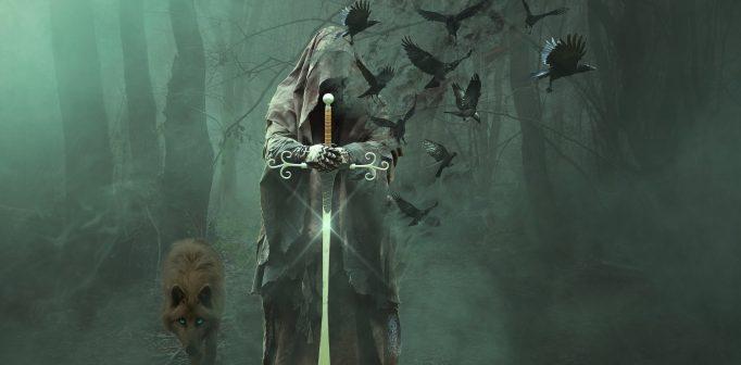 Trollkarlen Merlin och hans magiska krafter